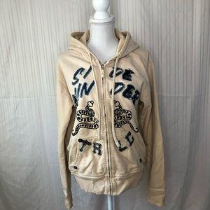 True Religion Zip Hoodie Sweatshirt Jacket Sz L